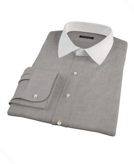 Charcoal 100s Oxford Custom Dress Shirt