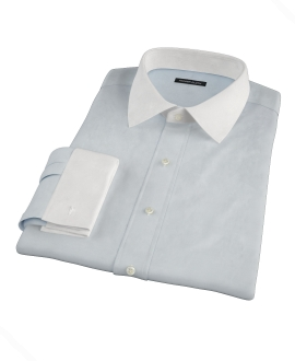 Pale Blue Fine Twill Custom Dress Shirt