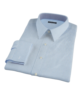Canclini Light Blue Mini Gingham Men's Dress Shirt