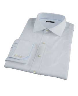 100s Light Blue Stripe Custom Dress Shirt