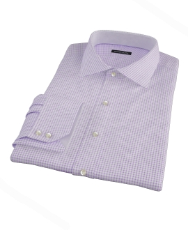 Canclini Purple Check Tailor Made Shirt
