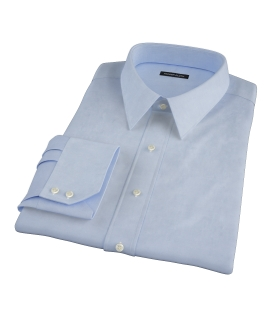 Light Blue Wrinkle Resistant 100s Broadcloth Custom Dress Shirt