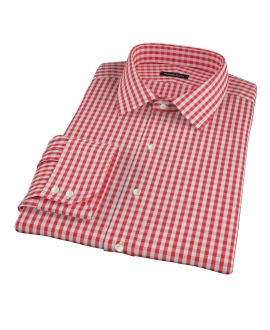 Union Red Gingham Fitted Shirt