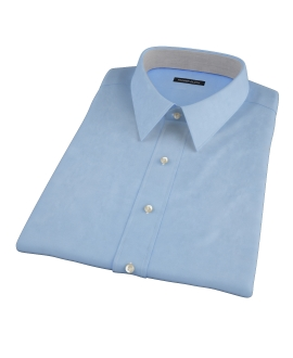 100s Medium Blue Wrinkle Resistant Broadcloth Short Sleeve Shirt