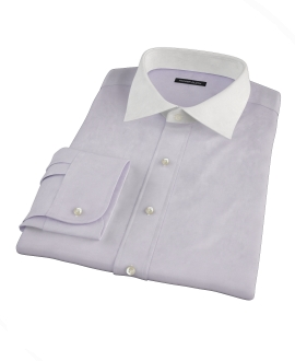Canclini Lavender End on End Tailor Made Shirt