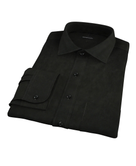 Black Broadcloth Men's Dress Shirt