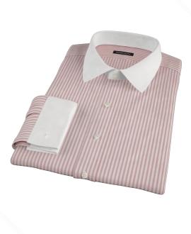 Thomas Mason Red Stripe Oxford Fitted Dress Shirt