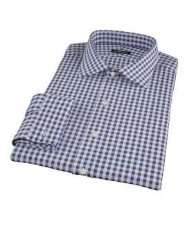 Canclini Navy Gingham Custom Made Shirt