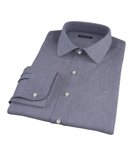 Navy Chambray Fitted Shirt