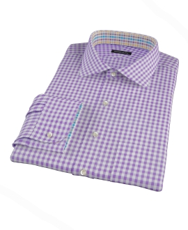 Medium Purple Gingham Tailor Made Shirt