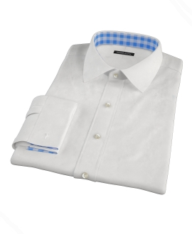White Egyptian Imperial Twill Dress Shirt