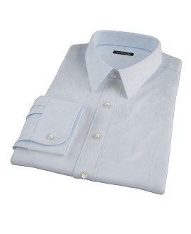 Sky Blue Cavalry Twill Herringbone Men's Dress Shirt
