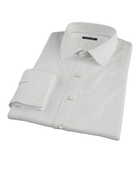 Ivory Fine Twill Fitted Dress Shirt
