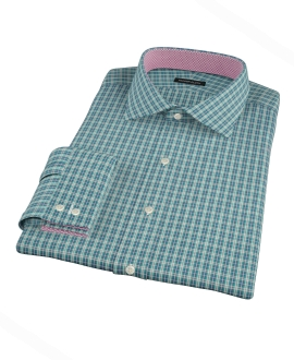 Veridian Green Oxford Plaid Fitted Shirt