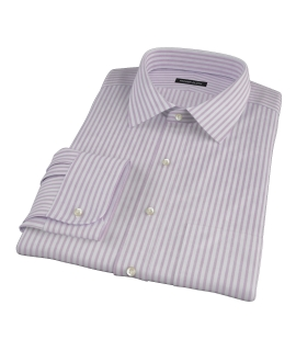 Thomas Mason Red Stripe Oxford Custom Dress Shirt