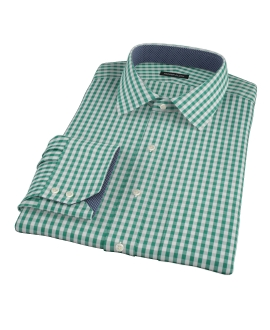 Veridian Green Gingham Men's Dress Shirt