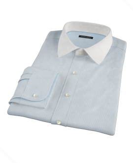 Light Blue End-on-End Stripe Dress Shirt