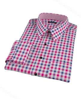 Red and Navy Multi Gingham Custom Made Shirt