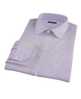 Purple Mini Grid Custom Dress Shirt
