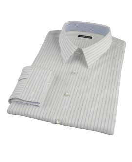 Japanese White and Blue Fitted Shirt