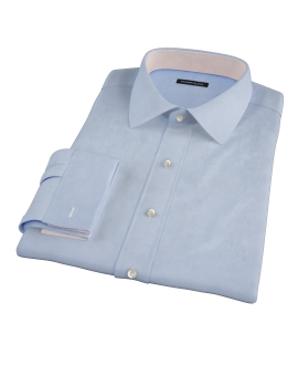 Light Blue Cavalry Twill Herringbone Custom Dress Shirt