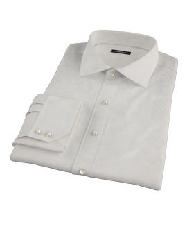 100s Khaki Stripe Tailor Made Shirt