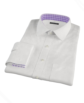 White 100s Pinpoint Dress Shirt