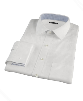 Canclini White Royal Twill Men's Dress Shirt