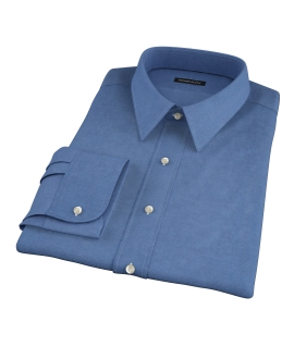 Wythe Steel Blue Oxford Fitted Shirt