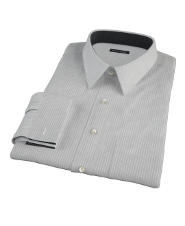 Charcoal End-on-End Stripe Dress Shirt