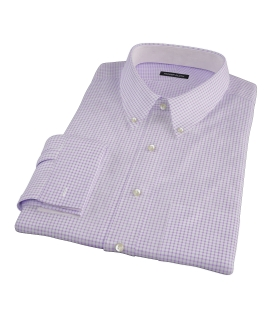 Canclini Purple Check Custom Made Shirt