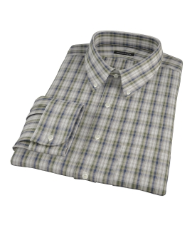 Green and Blue Plaid Tailor Made Shirt