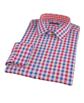 Red and Blue Large Gingham Dress Shirt