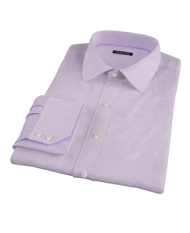 Lavender Small Grid Fitted Dress Shirt