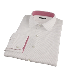 Morton Wrinke-Resistant Red Stripe Dress Shirt