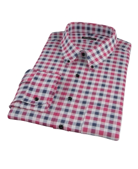 Vincent Red and Navy Plaid Custom Made Shirt