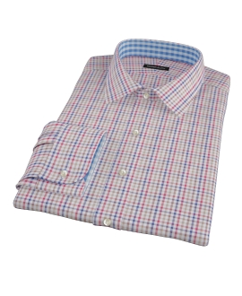 Williams Red Navy Multicheck Custom Dress Shirt