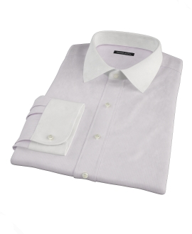 Canclini 140s Pink Stripe Fitted Shirt