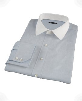 Stormy Light Blue Pinpoint Men's Dress Shirt
