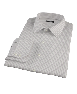 Japanese Lavender and Gray Stripe Fitted Shirt