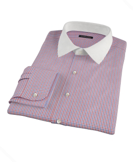 Canclini 120s Red Multi Gingham Tailor Made Shirt
