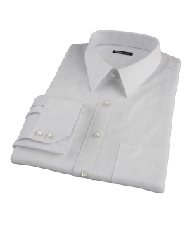 Bowery Light Gray Pinpoint Tailor Made Shirt