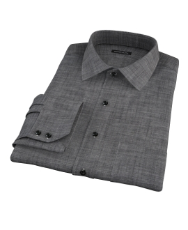 Black Denim Men's Dress Shirt