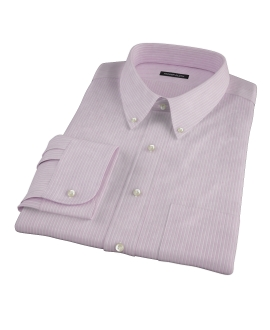 Viola End-on-End Stripe Fitted Dress Shirt