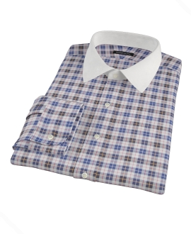 Vincent White Navy Red Plaid Tailor Made Shirt