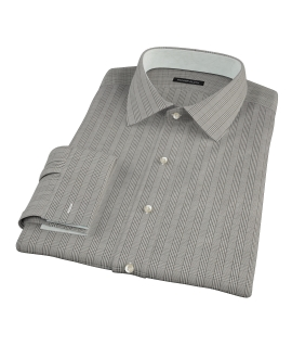 Japanese Black Glen Plaid Tailor Made Shirt