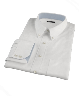 White 100s Pinpoint Fitted Shirt