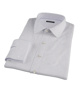 Albini Red Blue Large Tattersall Men's Dress Shirt