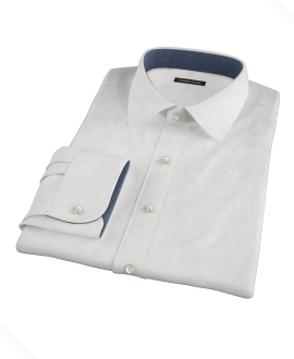 White Egyptian Imperial Twill Fitted Dress Shirt