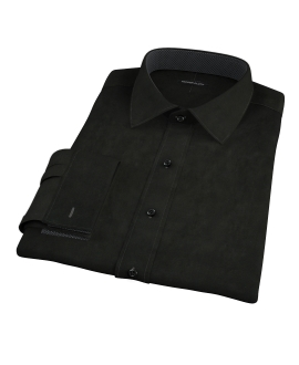 Black Broadcloth Custom Dress Shirt